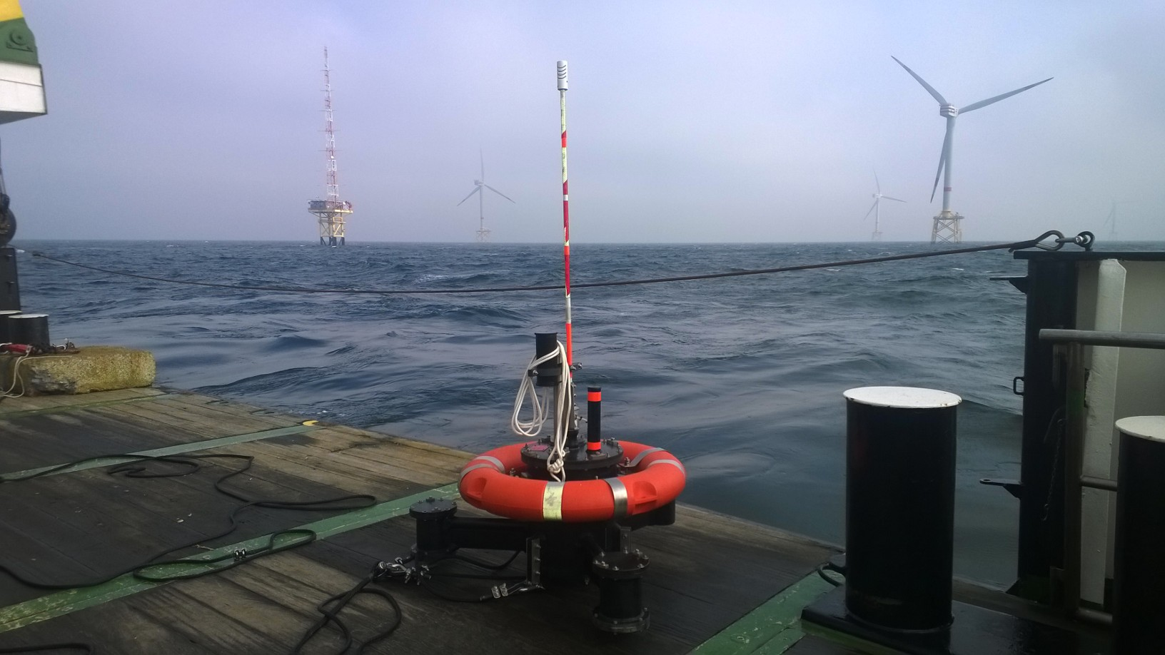 Moses buoy in alpha ventus wind farm